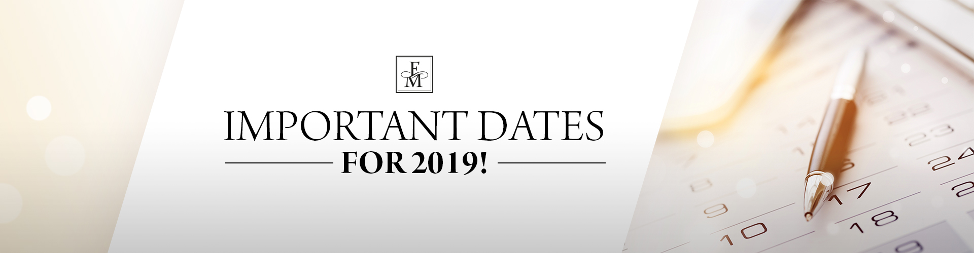 Important dates for FM World in 2019!