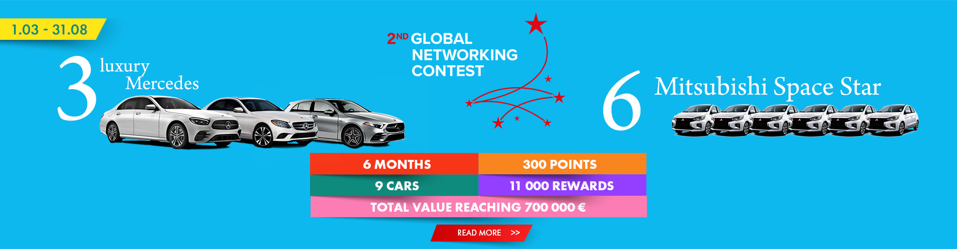 A CAR TO WIN EVERY MONTH!
